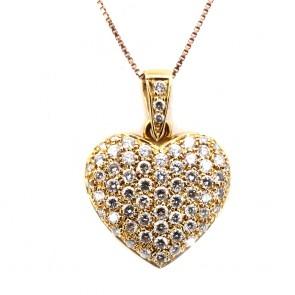 Ciondolo cuore capolavoro oro e diamanti