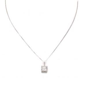 Ciondolo punto luce geometrico oro e diamanti - 0.60-0.70 ct; 1.26 gr