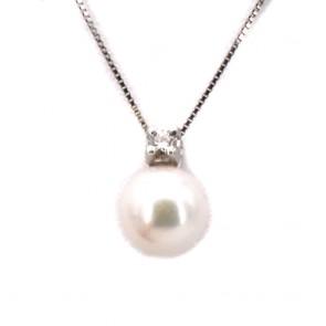 Ciondolo oro, perla giapponese