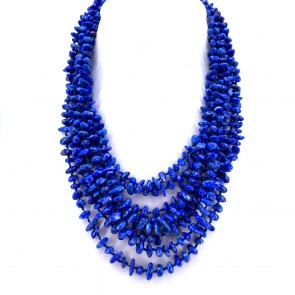 Collana multifilo blue spot stone