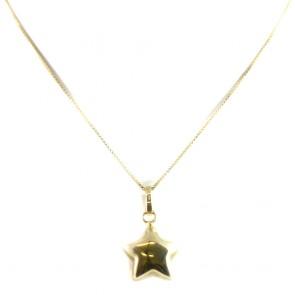 Ciondolo stella in oro giallo - 3,1 gr