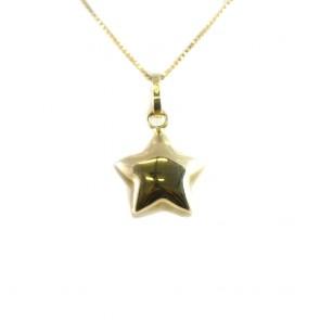Ciondolo stella in oro giallo