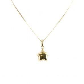 Ciondolo stella in oro giallo - 1,1 gr