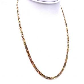 Collana catena uomo oro tricolore - 50 cm; 23.7 gr