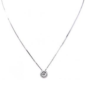 Ciondolo punto luce oro e diamante solitario - 0.06 ct