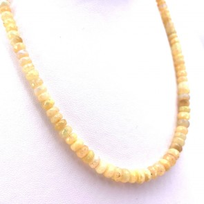Collana opale - 13.2 gr; 42 cm + 2.3 cm