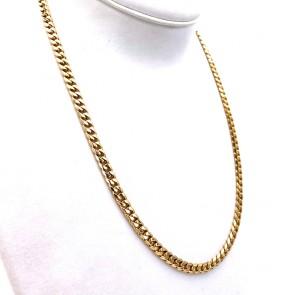 Collana catena unisex oro, maglia groumette - 60 cm; 65.8 gr
