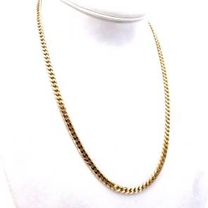 Collana catena unisex oro, maglia groumette - 60 cm; 47 gr