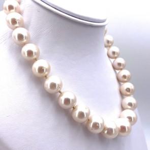 Collana girocollo di perle australiane - 13.5-16 mm e oro. 44 cm; 117.72 gr