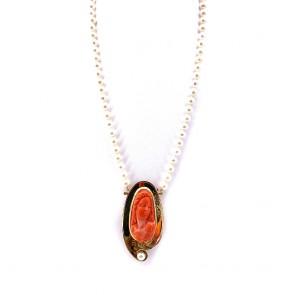 Collana artistica da 50 cm di perle