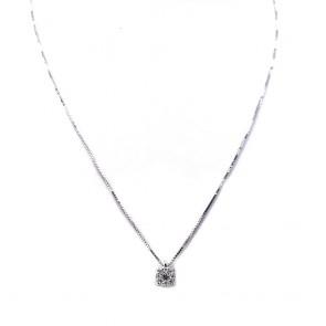 Ciondolo punto luce  margherita circolare oro e diamanti - 0.19 ct; 2.16 gr