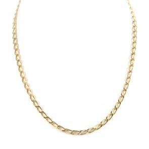 Collana catena girocollo oro,  maglia uomo - 50 cm; 23,1 gr