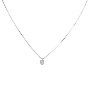 Ciondolo punto luce  margherita circolare oro e diamanti - 0,10 ct; 1,6 gr