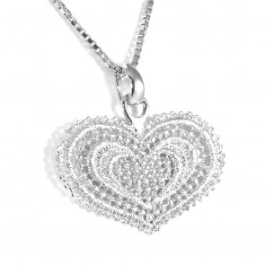 Ciondolo Lace, cuore, pizzo d'argento- 11,7 gr