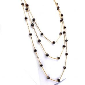 Collana capolavoro, catena in stile oro e granati - 66.5 gr; 198 cm