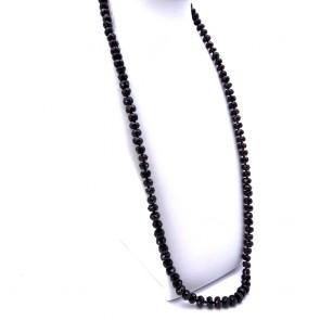 Collana in stile oro e granati - 185 gr; 85 cm