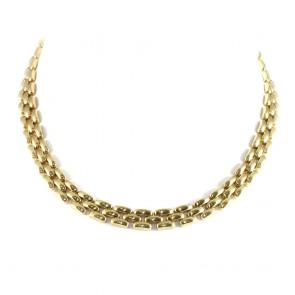 Collana collier catena oro maglia geometrica