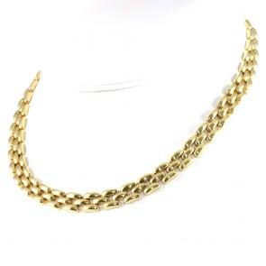Collana collier catena oro maglia geometrica- 43,5 cm; 52,2 gr