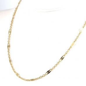 Collana catena da orologio oro - 50 cm; 8 gr