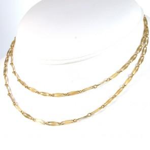 Collana catena da orologio lunga oro - 78 cm; 11,76 gr