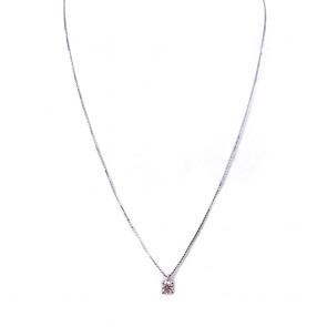 Ciondolo punto luce oro e diamante solitario - 0.23 ct; 2.11 gr