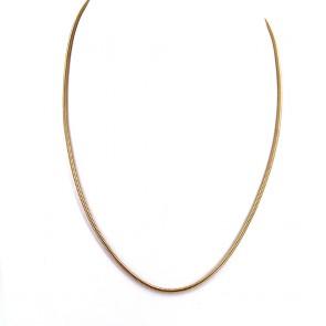 Collana catena unisex oro, maglia tubo gas