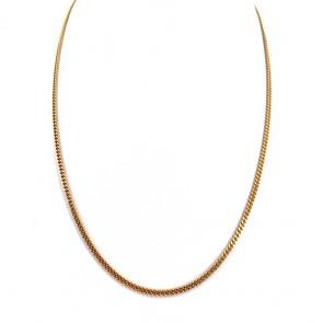 Collana catena unisex oro, maglia mini groumette