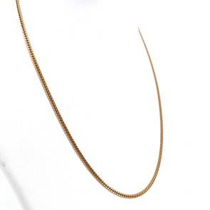 Collana catena unisex oro, maglia mini groumette - 50 cm; 11.27 gr