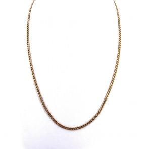 Collana catena unisex oro, maglia groumette