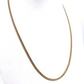 Collana catena unisex oro, maglia groumette - 49.5 cm; 12.37 gr