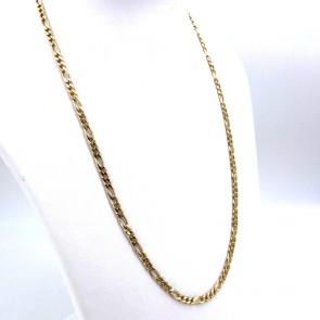 Collana catena unisex oro, maglia 3+1 - 60 cm; 28.9 gr