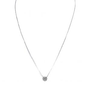 Ciondolo punto luce  margherita circolare oro e diamanti - 0.32 ct; 2.22 gr