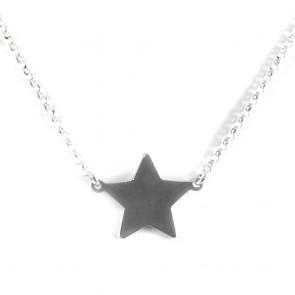 Ciondolo-collana argento bianco e stella