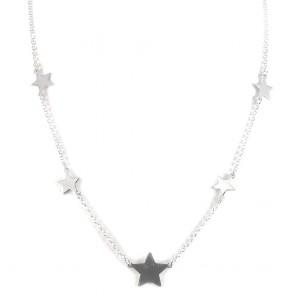 Collana argento bianco e stelle