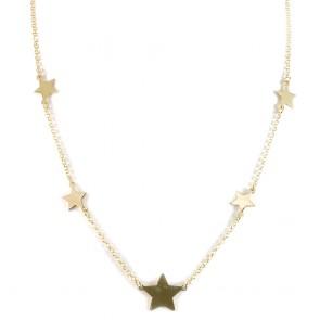 Collana argento dorato e stelle
