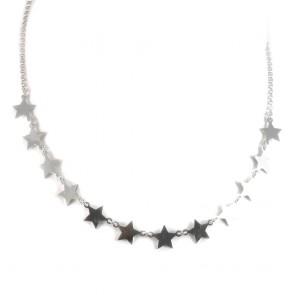 Collana argento bianco e 11 stelle