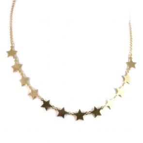 Collana argento dorato e 11 stelle