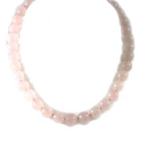 Collana girocollo quarzo rosa