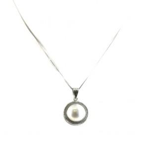 Ciondolo oro e  perla mabè -2,6 cm; 4,3 gr