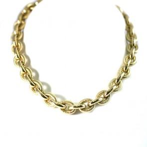 Collana collier girocollo maxi catena marinara oro