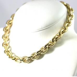 Collana collier girocollo maxi catena marinara oro - 45 cm; 82,18 gr