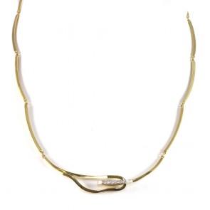 Collana collier catena semirigida con diamanti