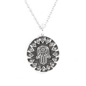 Ciondolo Mano di Fatima e catena argento- Ciondolo Mano di Fatima e catena argento-