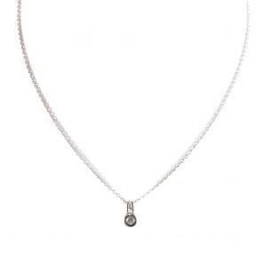 Ciondolo punto luce oro e diamanti - 0.20-0.30  ct; 4.6 gr