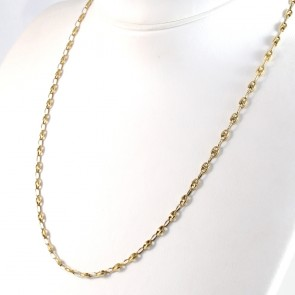 Collana catena uomo oro, maglia marinara - 45 cm; 9 gr