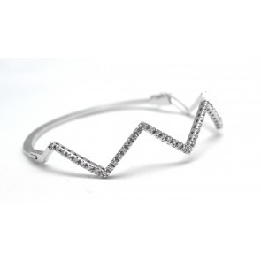 Bracciale rigido oro e diamanti (0,66 ct)