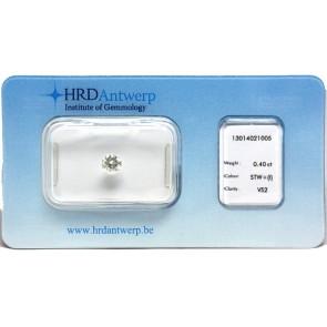 Brillante certificato HRD. ct 0,40; I-VS2