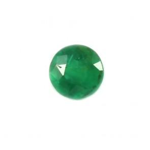 Smeraldo sfuso, taglio circolare sfaccettato - 1.37 ct