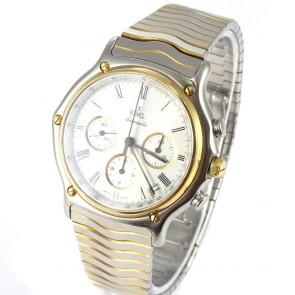 Orologio da uomo Ebel Zenith El Primero, acciaio e oro, automatico cronografo. 101.6 gr
