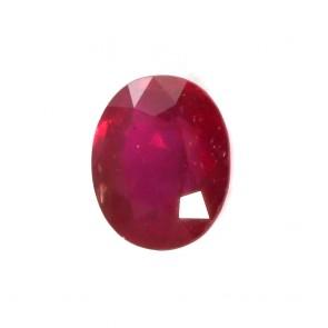 Rubino rosso sfuso, taglio ovale - 3.76 ct